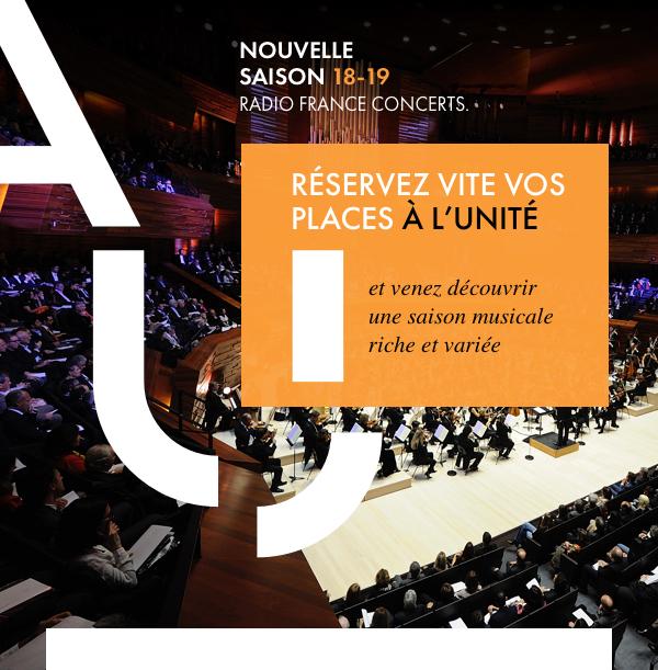 RÉSERVEZ VITE VOS PLACES À L'UNITÉ et venez découvrir une saison musicale riche et variée